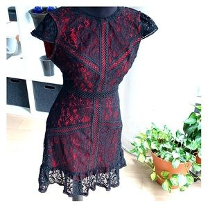 Darling red/black lace dress